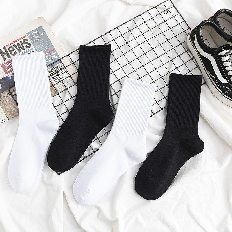 袜子女韩版中�y筒袜男秋季长袜子防臭篮∞球袜秋冬长筒堆堆袜学生潮流