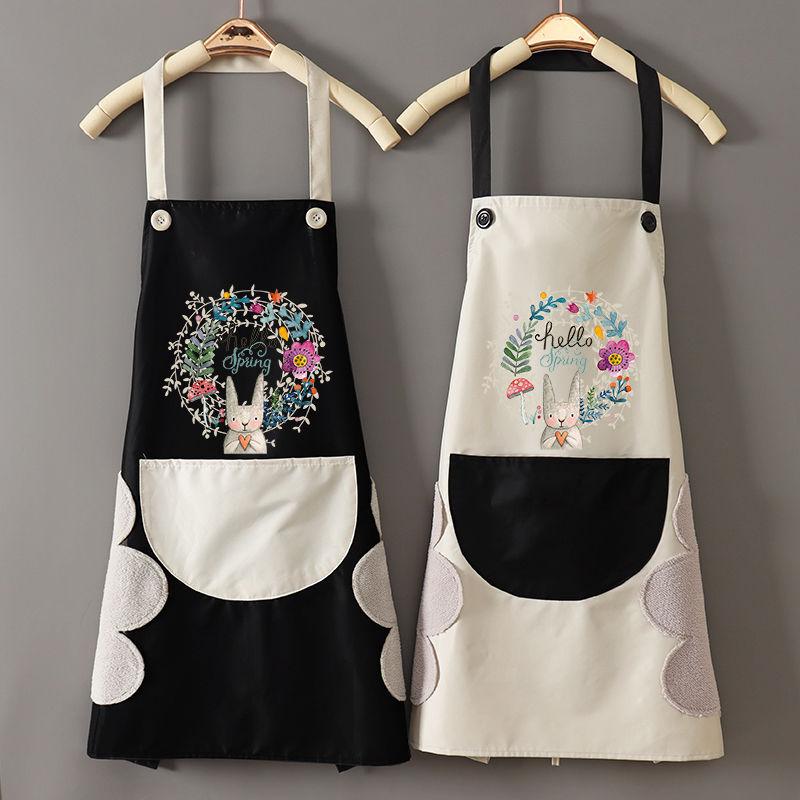 时尚家用可爱厨房做饭围裙女防水防油围腰