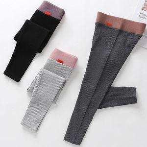 4女童打底裤加绒加厚春秋款洋气外穿宝宝冬季保暖儿童一体绒童裤