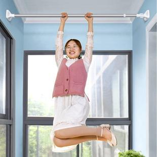 晾衣杆家用多功能伸缩杆免打孔窗帘杆撑杆