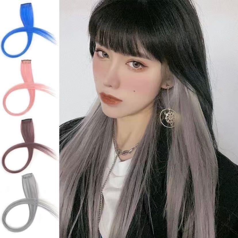 同款挂耳染假发片女长发一片式直发接发