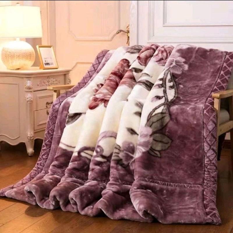 双层加厚拉舍尔毛毯秋冬季婚庆被子床单盖毯单人双人珊瑚绒毛毯子
