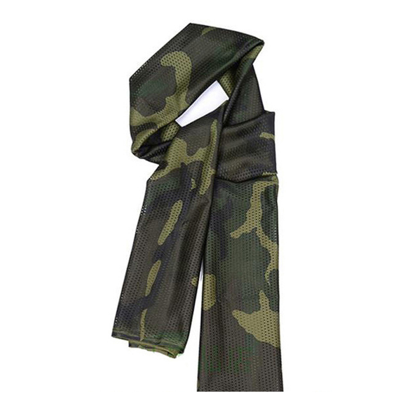 Ngoài trời ngụy trang khăn lực lượng đặc biệt rừng chiến thuật ngụy trang windproof chống bụi nhanh chóng làm khô lưới khăn nam giới và phụ nữ quân đội fan vuông khăn