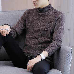 新款男士高领毛青春时尚针织衫