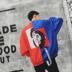 Áo khoác nam mùa thu mới của Hàn Quốc phiên bản của xu hướng cá tính hit màu ribbon sinh viên chú hề đồng phục bóng chày khâu hai màu áo khoác Áo khoác
