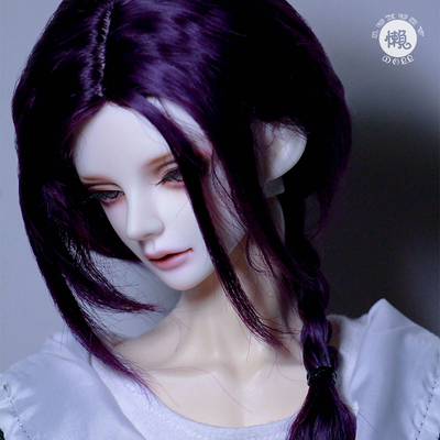 taobao agent Lazy baby shop bjd wig 4 3 points uncle sd doll female male baby ancient style water pattern curly long hair-purple