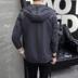 2018 mùa thu mới áo khoác nam trùm đầu thanh niên phần mỏng giản dị mùa xuân và mùa thu áo kích thước lớn quần áo bên ngoài quần áo của nam giới Áo khoác