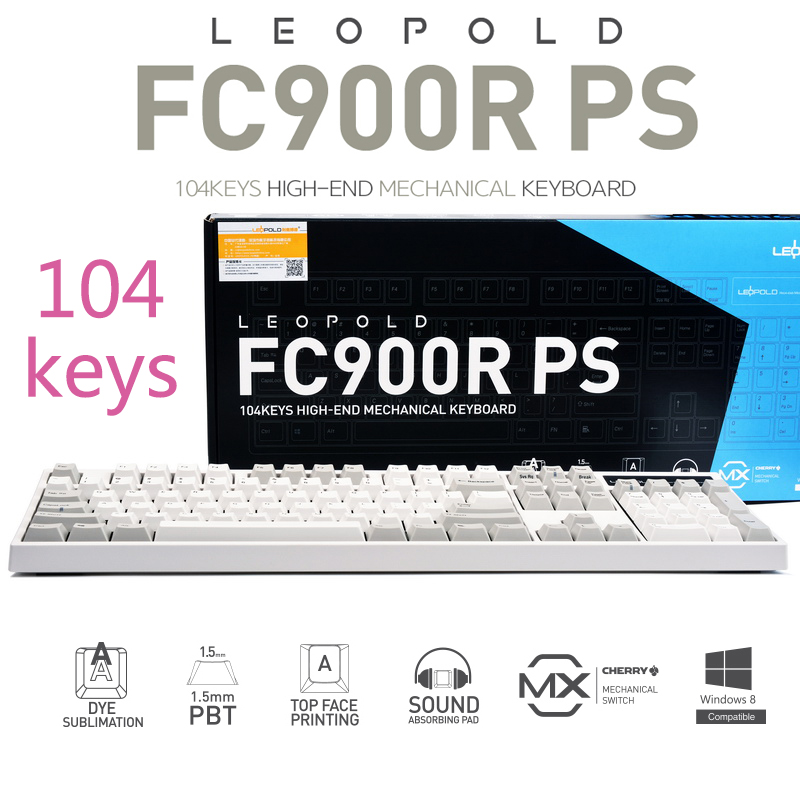 9eec009ec81 Leopold Leopold FC900R mechanical keyboard PBT keycap side engraved PD  two-color red version PS