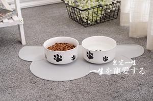 Mèo và chó nhu yếu phẩm hàng ngày bát gốm bát đơn vật nuôi vật nuôi bát chó mèo bát gốm mèo nồi con chó nồi