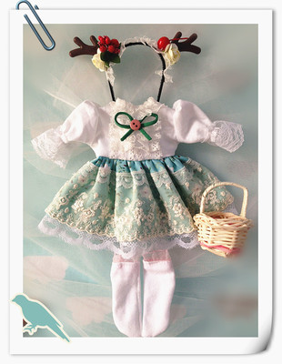 taobao agent Spot 2 sets of shipping 3 points 4 points dress bjd skirt doll clothes big 6 giant baby blythe small cloth holala
