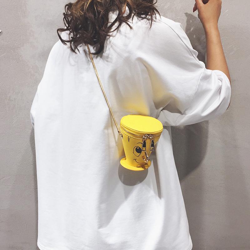 上新可爱链条包包女新款卡通水桶包时尚百搭潮单肩斜挎包