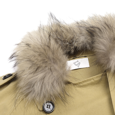 Mrs. Rose twenty-three something new winter coat female fur collar embroidered long section of thick cotton jacket