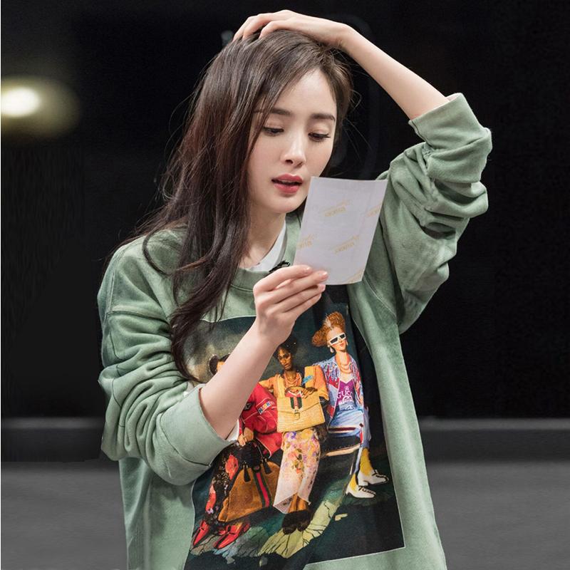 明星同款ins超火卫衣2018新款女秋长袖韩版bf宽松慵懒风薄款