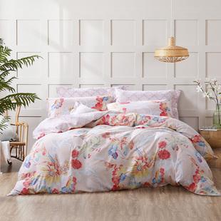 富安娜家纺圣之花双面磨毛四件套床上用品