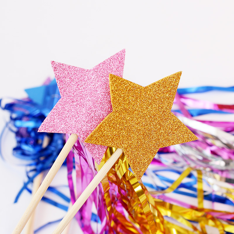 儿童生日礼物魔法棒宝宝周岁拍照道具流苏仙女棒派对布置装扮