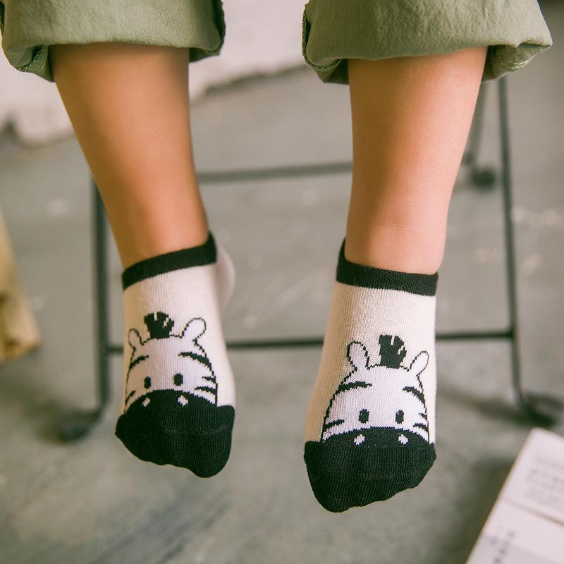 儿童船袜纯棉春秋夏薄1-3-5-7-9岁男女童宝宝防滑浅口婴儿短袜子