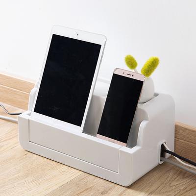 插座电线收纳盒电源线整理盒子 桌面插排理线器整理盒固定理线盒