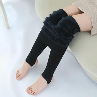 女童纯棉打底裤儿童冬季加绒加厚保暖裤小女孩踩脚秋冬外穿连裤袜