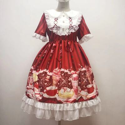 taobao agent Sugar Girl【Spot goods】~Original design Lolita meow sauce ice cream Lolita op short sleeve dress