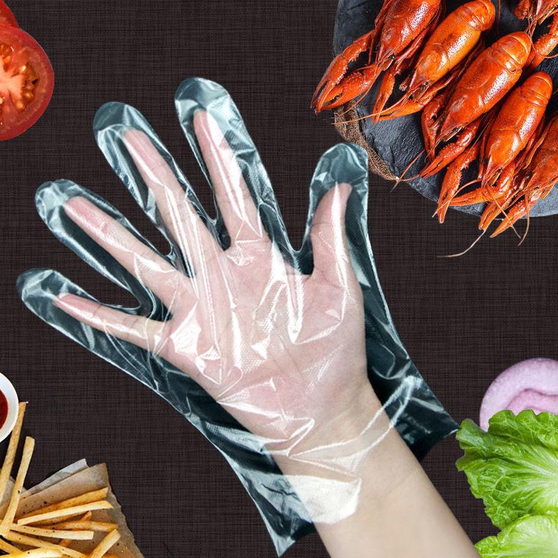 一次性手套食品餐饮塑料透明加厚1000只装吃小龙虾家用厨房pe薄膜