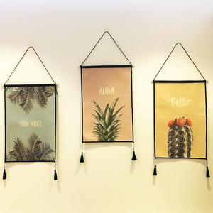 Bắc âu gió vải bức tranh vải bông bức tranh tường ins gió tấm thảm đơn giản linen treo mét hộp bìa vải