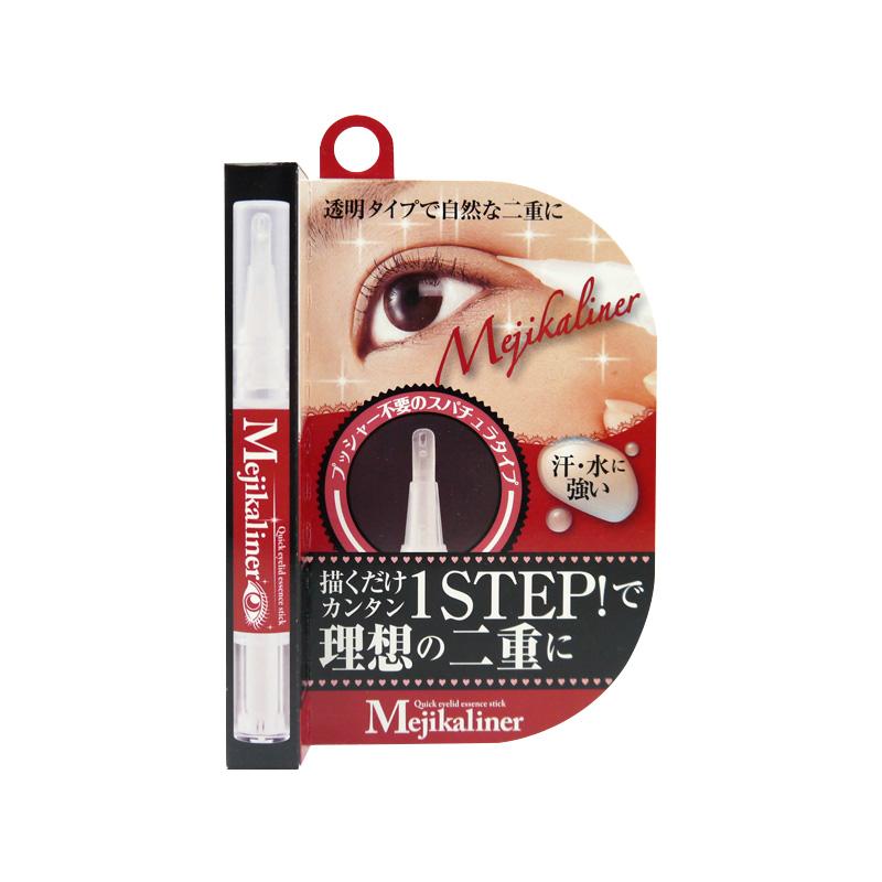 日本原装进口Mejikaliner日用速干笔型眼皮定型液双眼皮胶水包邮