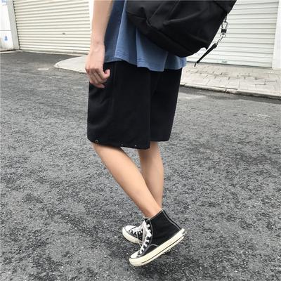 港风潮牌男生ins短裤夏季薄款直筒五分裤潮流宽松bf百搭休闲马裤