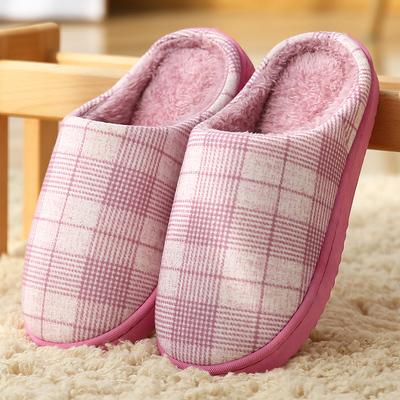 居家室内可爱-保暖厚底毛绒月子鞋