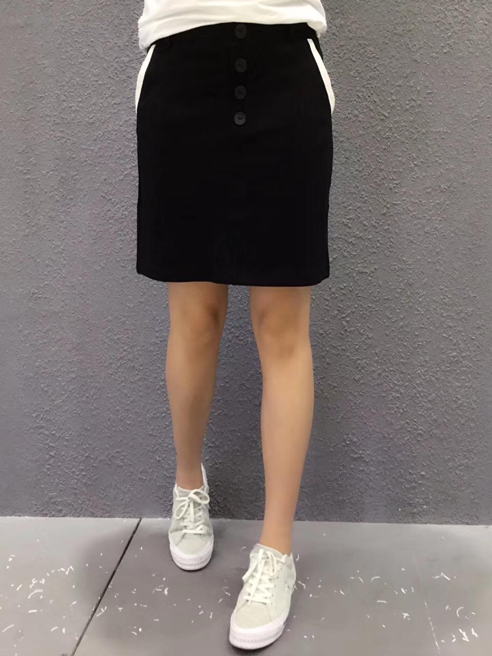 EF kênh 2018 thời trang gió nhẹ nhàng kích thước lớn của phụ nữ mùa hè Hàn Quốc giản dị Một từ váy hoang dã váy mỏng váy thủy triều