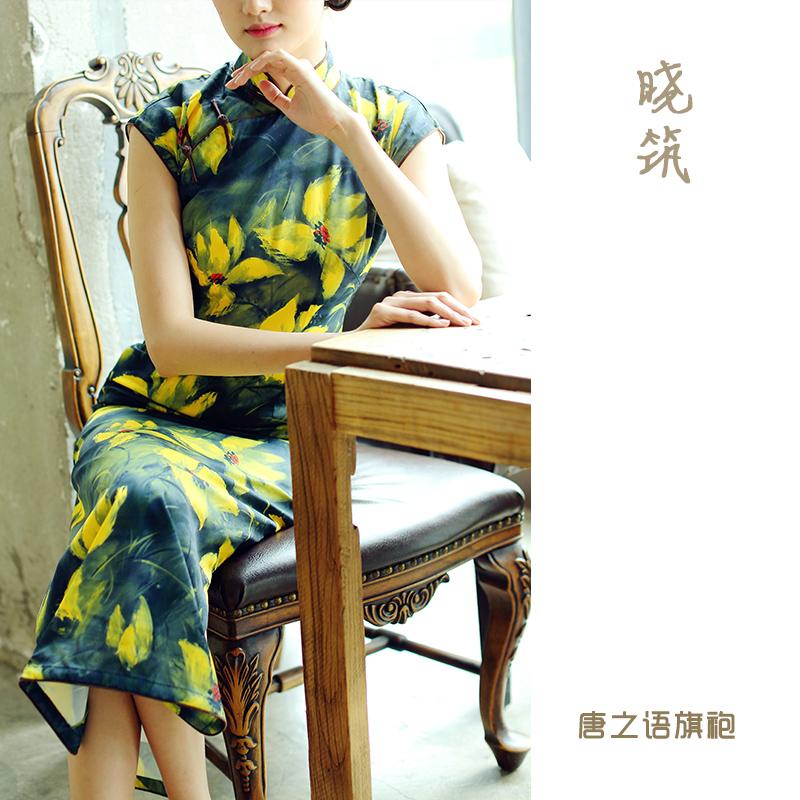 少女风新式旗袍女年轻长款气质夏款时尚复古改良版连衣裙晓筑
