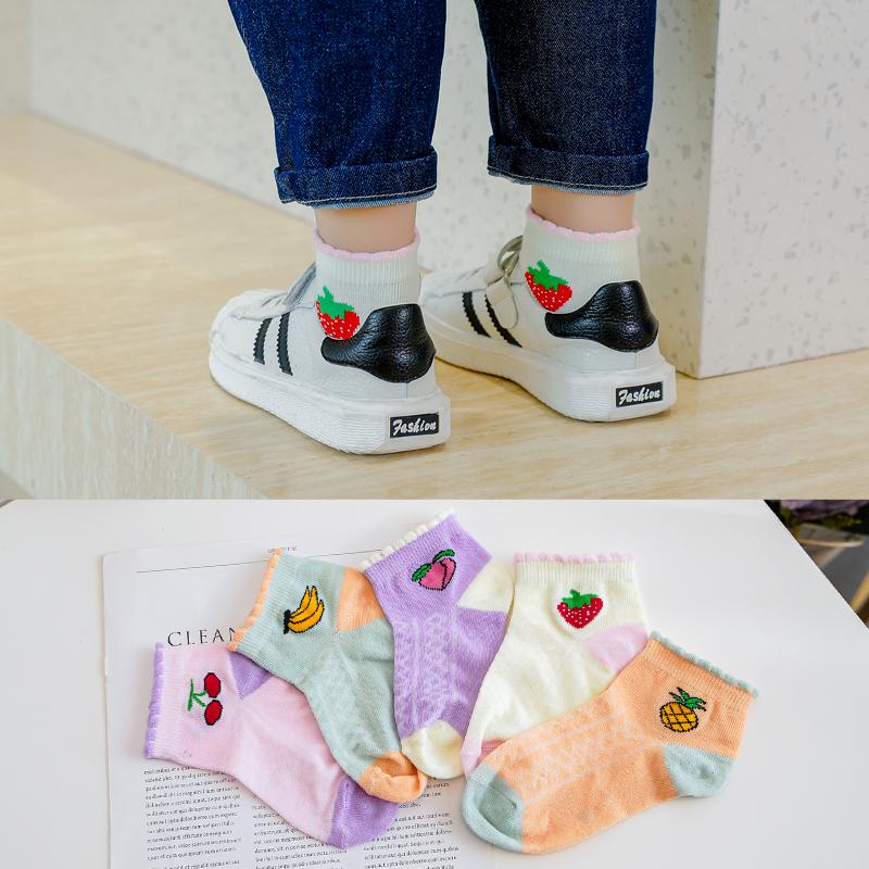 【A类棉】儿童四季款棉袜5双