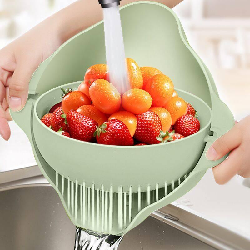 【神器】双层厨房洗菜盆沥水篮洗水果筐