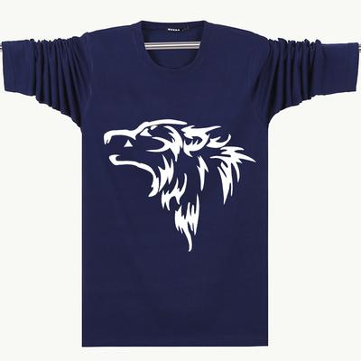 Đặc biệt hàng ngày dài tay T-Shirt nam cộng với phân bón XL cotton vòng cổ lỏng sinh viên thể thao giản dị đáy áo sơ mi áo thun tay dài nam Áo phông dài