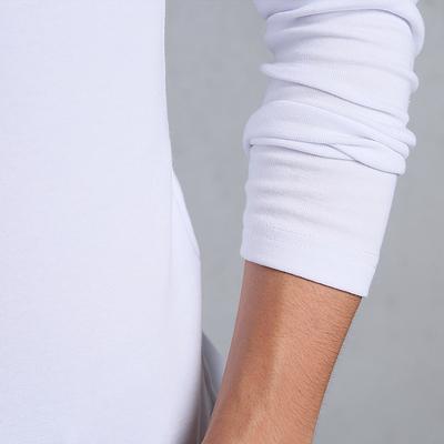 Mùa thu Slim màu rắn nửa cao cổ áo dài tay t-shirt nam cotton tight-fitting đáy xu hướng áo sơ mi trong cổ áo mùa thu quần áo kích thước lớn triều áo thun ba lỗ Áo phông dài