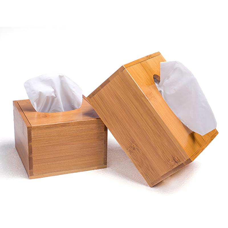 创意纸巾盒定制竹质卷纸收纳盒-优惠后3元包邮