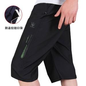 夏季男士拉链口袋七分运动裤宽松薄款休闲裤男速干五分沙滩裤
