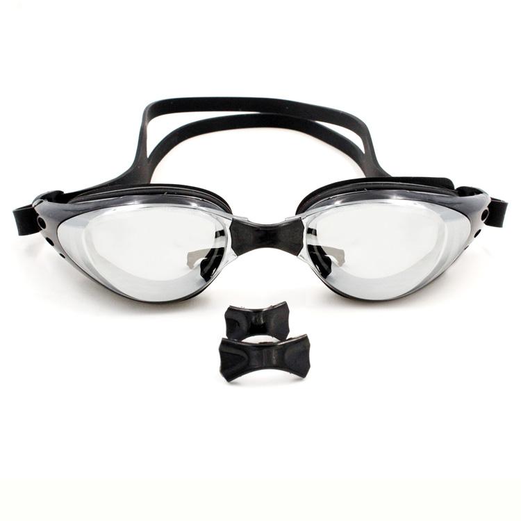 树熊少女瑞和正品高清电镀防雾近视镀膜游泳镜多度数可选近视泳镜
