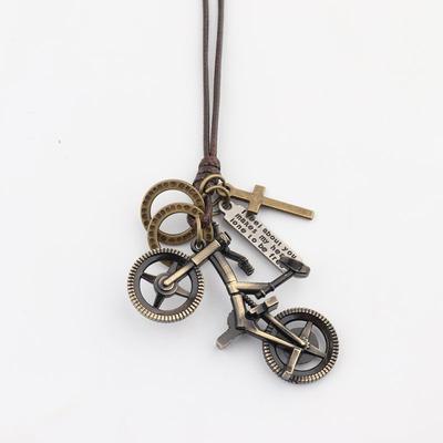 自行车毛衣链项链吊坠女时尚可爱迷你单车长款休闲复古百搭