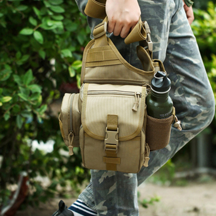 Ngoài trời siêu yên túi lớn yên túi đa chức năng ngụy trang chiến thuật chéo vai túi nhiếp ảnh slr camera túi nam quân đội