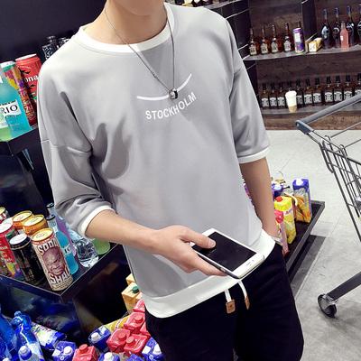 Junior high school sinh viên nam mùa hè phù hợp với Hàn Quốc T-Shirt thanh niên ngắn tay xu hướng t-shirt nam body blood áo sơ mi mùa hè
