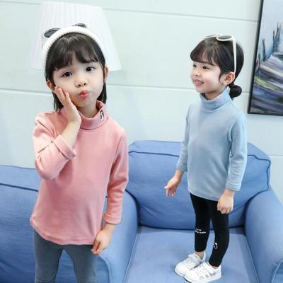 女童纯棉打底衫宝宝高领长袖春秋T恤3儿童洋气休闲潮新款