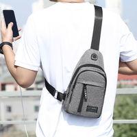 胸包男士背包2020新款尼龙帆布胸包休闲运动旅游胸前包单肩斜挎包