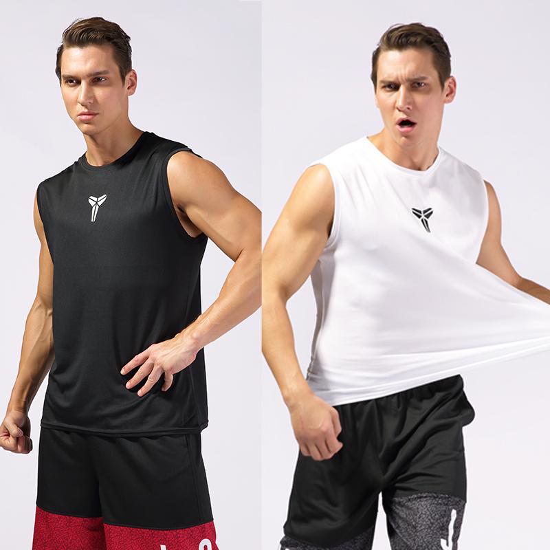Kobe nam lỏng lẻo khô nhanh bóng rổ vest lưới thoáng khí vest vai thể thao không tay T-Shirt kích thước lớn vest thể dục