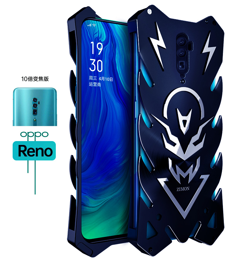 SIMON New THOR II Aviation Aluminum Alloy Shockproof Armor Metal Case Cover for OPPO Reno & OPPO Reno 10x Zoom