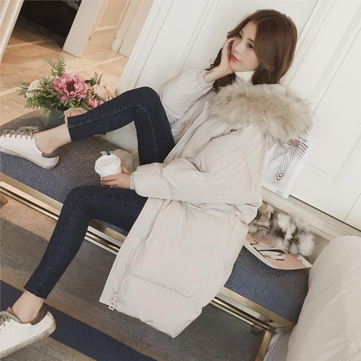 Chống mùa bông quần áo phụ nữ phần dài mùa đông 2018 mới Hàn Quốc phiên bản của áo bông dày hoang dã bông áo khoác mùa đông bọ cạp