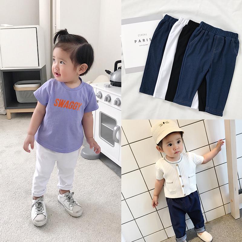 Cookie nhà bé cửa hàng quần áo trẻ em bé quần jeans quần 2018 mùa hè mới 1 3 tuổi mặc