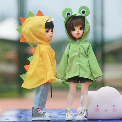taobao agent BJD 6 points baby clothes ob24 what to do if it rains, frog raincoat 1/6 yosd doll clothes