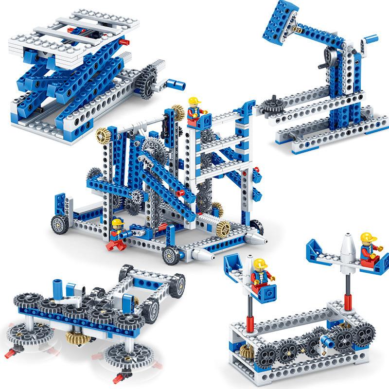 男孩子电子机器人拼装电动万格积木科技系列机械组齿轮玩具礼物