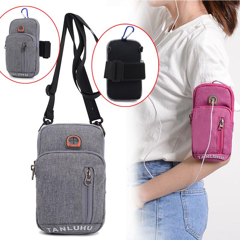 6.0 inch điện thoại di động túi đa chức năng túi xách cánh tay túi vai túi Messenger túi công suất lớn cổ tay túi tập thể dục chạy túi
