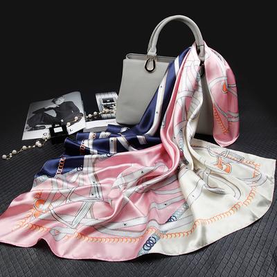 上海故事大方巾丝巾女士春秋围巾小方巾妈妈款中年夏秋季百搭装饰